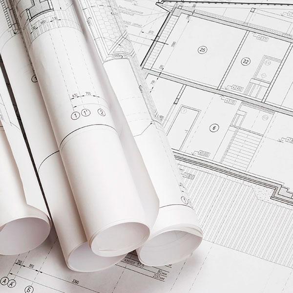 rollos de planos impresos